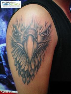 Higher Resolution Eagle Tattoo