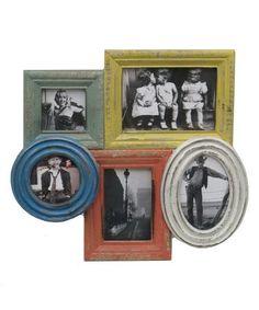 Look what I found on #zulily! Bright Wood Collage Frame #zulilyfinds