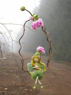 spring faerie on swing.
