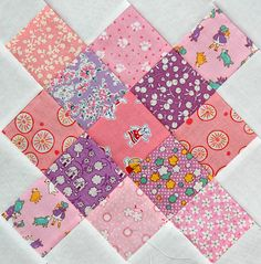 Pink and Purple Granny Square