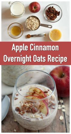 Apple Cinnamon Overnight Oats Recipe