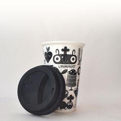 Umami Art Travel Mug-- to avoid spills in style