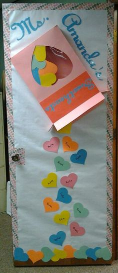 My Valentine's Day Classroom Door!