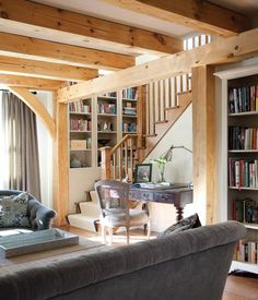 I want a house with a library in it. And a little desk tucked in between all my favorite books, just like this one.