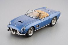 1961 Ferrari California Spider in Blue Diecast Model Car by CMC in 1:18 Scale