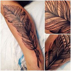 Nice feather tattoo,