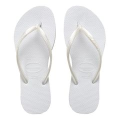 d6130c23a18c5 Havaianas Slim White Thong Sandals Havaianas Slim