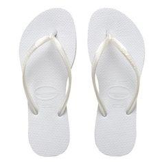 Havaianas Slim White Thong Sandals