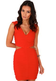 Mairin red bodycon from @Shelby Pratt - £29.99 #RunwayRepublic