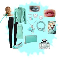 """""""Chic Turquoise"""" by babybren-fany ❤ liked on Polyvore"""