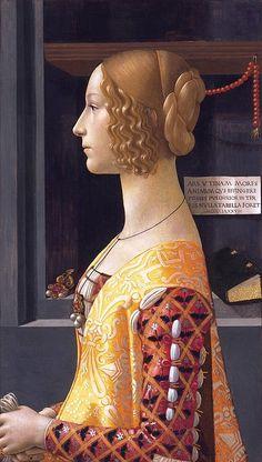 Portrait of Giovanna de' Tornabuoni / 1488 / commissioned from Domenico Ghirlandaio / tempera on panel / Museo Thyssen-Bornemisza, Madrid