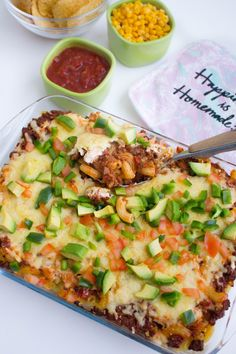 Tacogratäng med pasta Quorn, Something Sweet, Chutney, Vegetable Pizza, Hummus, Pesto, Quiche, Tacos, Cooking Recipes