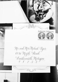 Wedding envelope calligraphy/designsgirl