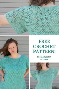 Free Crochet Pattern - The Aerwyna Blouse  View this pattern for free on the blog!