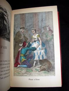 Hand-colored-illustrated-Book-Contes-de-Fees-Fairy-Tales-by-Perrault-1890