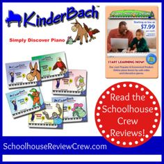 Beginning piano lessons for your littlest students with Kinderbach. Check out the Crew reviews! #hsreviews #music #homeschool #pianolessons