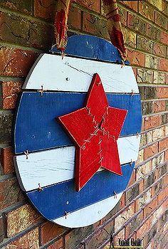 americana door art, crafts, doors, patriotic decor ideas, repurposing upcycling, seasonal holiday decor