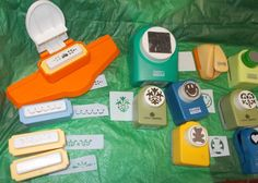 Scrapbooking paper punch lot of Marvy punches Anna Griffin Borders Decorative  #Marvy