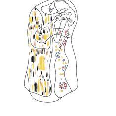 'Gustav Klimt Kiss painting' by Nikolina Lazovic Kiss Painting, Painting Tattoo, Klimt Tattoo, Kiss Illustration, Kissing Drawing, Kiss Tattoos, Easy Drawings, Art Inspo, Line Art