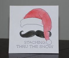 Cute hand painted Christmas card