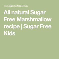 All natural Sugar Free Marshmallow recipe | Sugar Free Kids