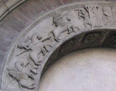 le storie di Re Artù ecc. in un portale minore del duomo di Modena