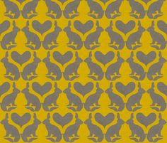 rabbit_silhouette fabric by holli_zollinger on Spoonflower - custom fabric