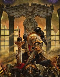 Black Templar Deathwatch Marine honours his fallen Battle-Brothers...
