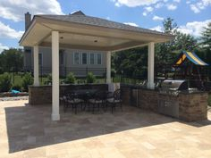 KS Pools and Patios cabana builders in Warminster, PA. For more information on custom pool cabanas in Doylestown, PA visit our site today! Outdoor Seating, Outdoor Pool, Outdoor Decor, Bbq Guys, Backyard House, Pool Cabana, Custom Pools, 4 Bedroom House, Pool Decks