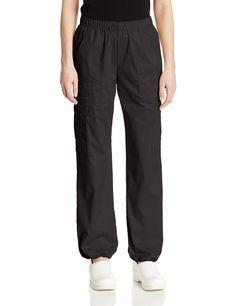 Amazon.com: Cherokee Women's Workwear Scrubs Core Stretch Pull-On Cargo Pant, Black, Small: Medical Scrubs Pants: Clothing