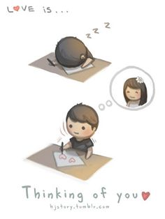 Love is... thinking of you. by ~hjstory on deviantART