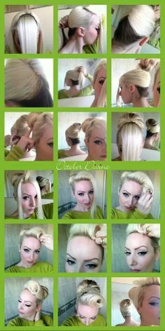 How to pin up hair