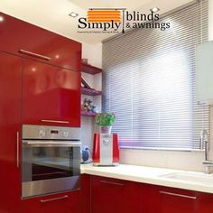 We at Simply Blinds & Awnings install and maintain Aluminium Venetian Blinds. Feel free to contact us through email phone or visit us. Alternatively you can request a free quote and we will get back to you. We'll be happy to help Call us on 27 21 556 8456 Venetian, Kitchen Remodel, Remodel, Blinds, Kitchen, Home Decor, Kitchen Cabinets