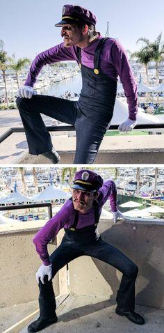 Super Mario Bros - Amazing Waluigi Cosplay!