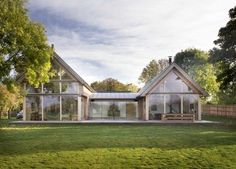 Lund, A stunning contemporary oak framed house by Roderick James Architects Oak Frame House, Timber Architecture, Modern Barn House, Casa Real, Modern Farmhouse Exterior, Exterior Design, Future House, Building A House, Design Case