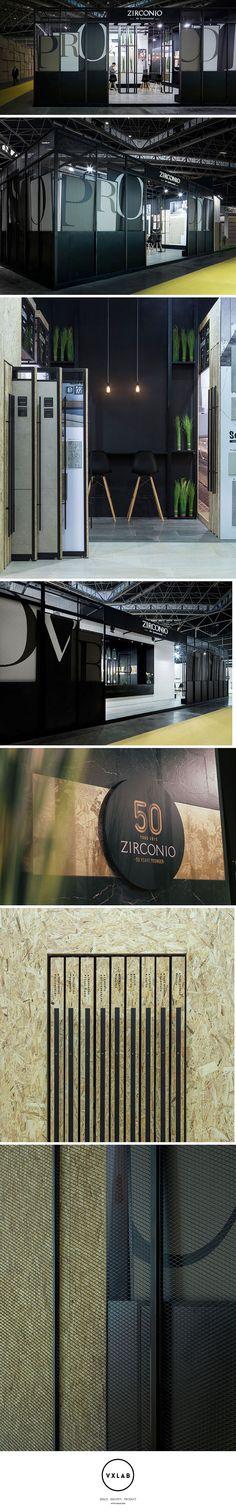 Zirconio + Niro Granite Stand @ Cevisama Ceramic Tile Exhibition 2015. Design by VXLAB Branding & Design Management www.vxlab.org