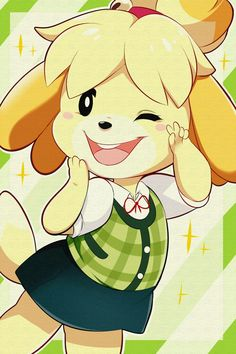 See more 'Isabelle' images on Know Your Meme! Animal Crossing Fan Art, Animal Crossing Memes, Animal Crossing Villagers, Animal Crossing Pocket Camp, Character Drawing, Game Character, Motifs Animal, Cute Chibi, Digimon