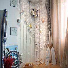 Rete Da Pesca Decorativa Netto Cottone Con Shell Addobbi Feste Casa - 2M x 1M Beige: Amazon.it: Fai da te