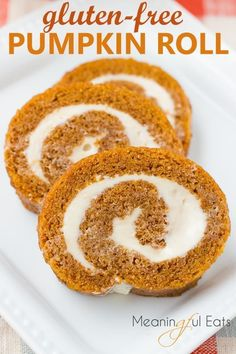 Perfect Gluten-Free Pumpkin Roll Moist Spiced Cake With A Cream ~ perfekter glutenfreier kürbis roll moist spiced cake mit einer creme Perfect Gluten-Free Pumpkin Roll Moist Spiced Cake With A Cream ~ Dairy Free Bread, Dairy Free Snacks, Gluten Free Deserts, Dairy Free Breakfasts, Gluten Free Sweets, Gluten Free Cakes, Foods With Gluten, Gluten Free Baking, Dairy Free Recipes