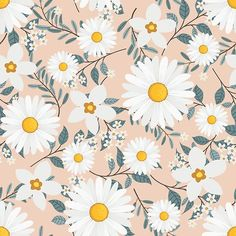 White Daisy Flowers Wreath Ivy Style With Branch And Leaves, Seamless Pattern New Flower Wallpaper, Cute Flower Wallpapers, Flower Backgrounds, Wallpaper Images Hd, Wallpaper Backgrounds, Wallpaper Art, Adhesive Wallpaper, Hera, Ivy Style