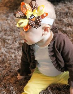 Mommy's Little Sunshine: Turkey Headband Tutorial.perfect for Thanks Giving 2013 Thanksgiving Hair Bows, Thanksgiving Ideas, Headband Tutorial, Bow Tutorial, Flower Tutorial, Cute Headbands, Flower Headbands, Boutique Bows, Bow Hair Clips