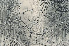 'Parallel Observer (detail), graphite on paper, by Stephen Talasnik, 2005
