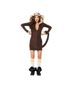 Cozy Monkey Womens Costume Deluxe