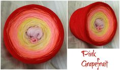 Bobbel *Pink Grapefruit* Material: Hochbauschacryl 5 Farben (rein) rosa vanille lachs mandarin rot