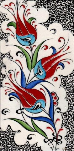 Ceramic Tiles and Panels Çini Karo ve Panolar Pottery Patterns, Pottery Designs, Tile Patterns, Turkish Art, Turkish Tiles, Ceramic Tile Art, Turkish Pattern, Glass Painting Designs, Handmade Tiles