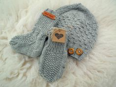 Villasukat vauvalle - ohje Baby Hats, Mittens, Children, Kids, Knit Crochet, Scarves, Gloves, Slippers, Knitting