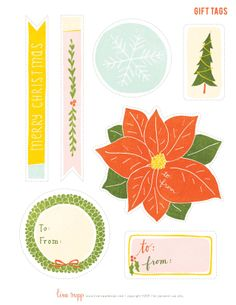 Gift tags by Lisa Rupp in Gifted Magazine
