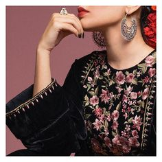 Our latest ready to wear velvet collection, inspired by the phenomenal Frida Kahlo, will be available in stores and online on the 23rd of December. Be sure to grab your favourite pieces! @forgottencraftshome #comingsoon #fardia #online #zarashahjahan #zsjgirl Jewellery by @khazana.jewels