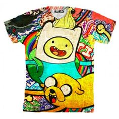 Adventure Time Shirt! Awesomeeeeee. #colorful #adventuretime #backtoschool