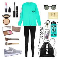 Bike ride/walk by yasmeenf on Polyvore featuring polyvore, fashion, style, Victoria's Secret, NIKE, Charlotte Olympia, LifeProof, CB2, Forever 21, Wet Seal, Giorgio Armani, Urban Decay, NARS Cosmetics and Victoria's Secret PINK